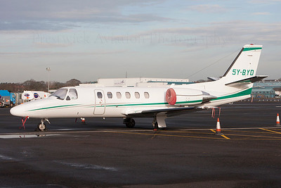 5Y-BYD. Cessna 550B Citation Bravo. Private. Prestwick. 281113.