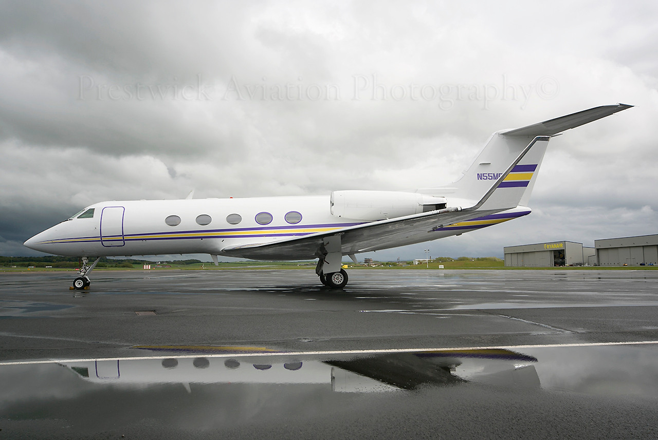 N55ME. Gulfstream Aerospace Gulfstream 3. Private. Prestwick. 270513.