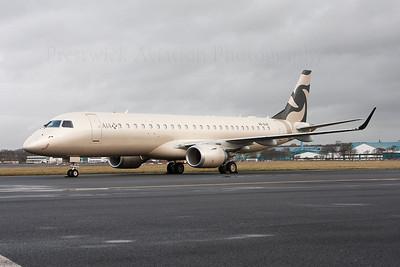 A6-AJH. Embraer ERJ-190-100ECJ Lineage 1000. AJA Al Jaber Aviation. Prestwick. 201213.