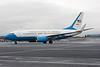 05-0932. Boeing C-40C BBJ. USAF. Prestwick. 121213.