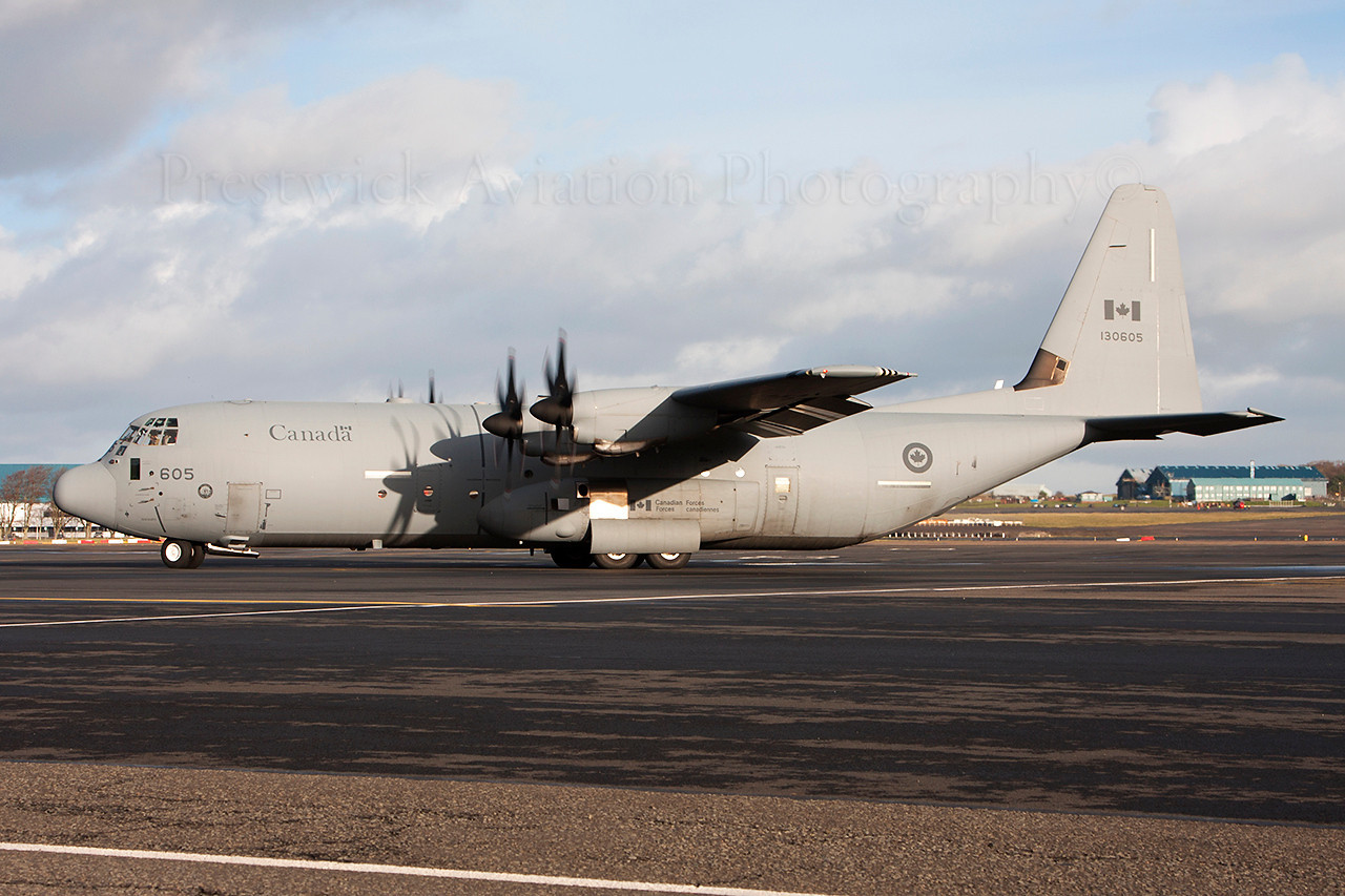 130605. Lockheed Martin CC-130J-30 Hercules. Canadian Air Force. Prestwick. 161213.
