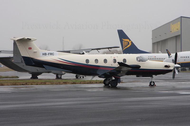HB-FRC. Pilatus PC-12. Private. Prestwick. 131213.