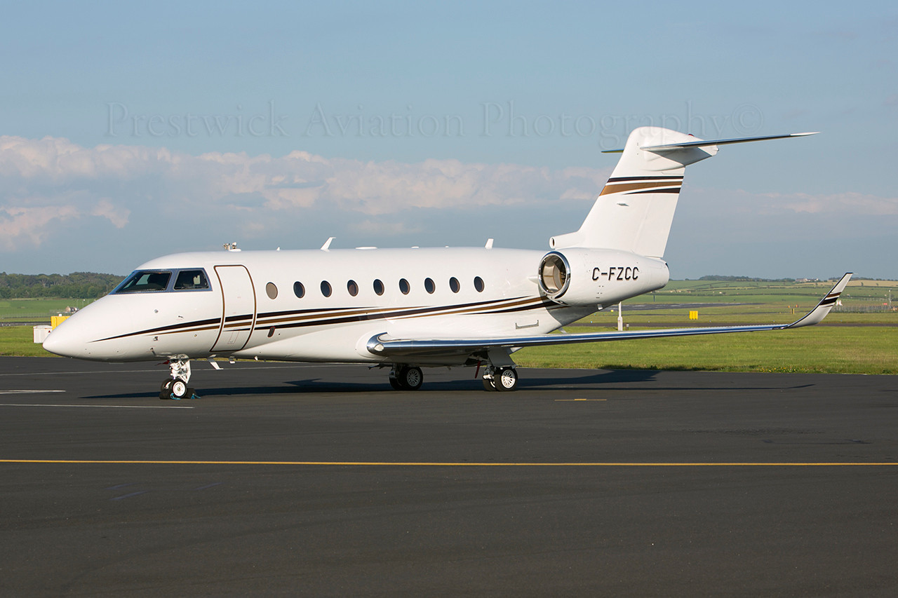 C-FZCC. Gulfstream Aerospace G150. Private. Prestwick. 080613.