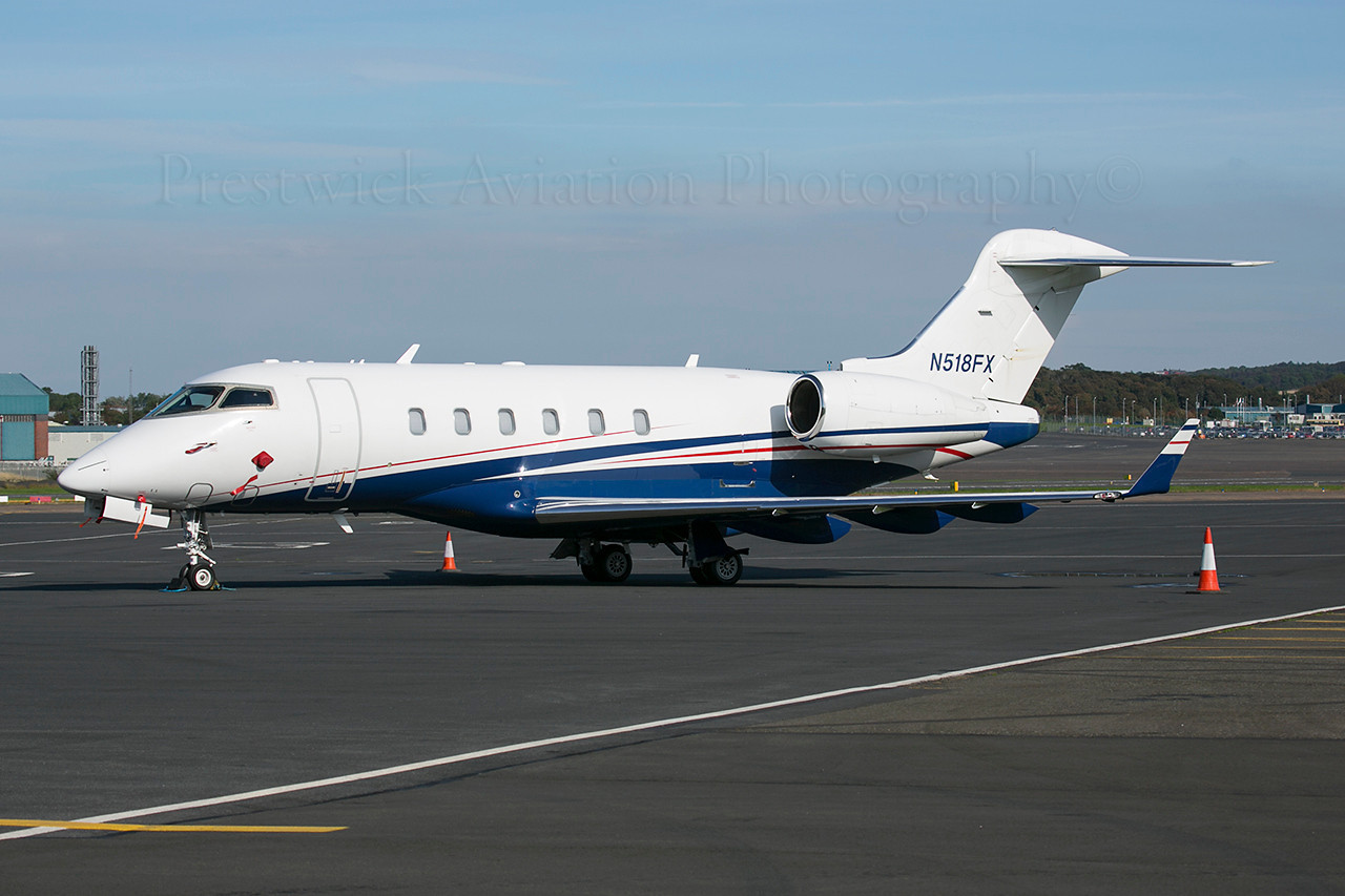 N518FX. Bombardier BD-100-1A10 Challenger 300. Private. Prestwick. 280913.