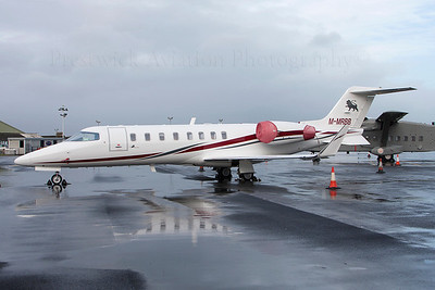 M-MRBB. Learjet 45. Private. Prestwick. 291113.