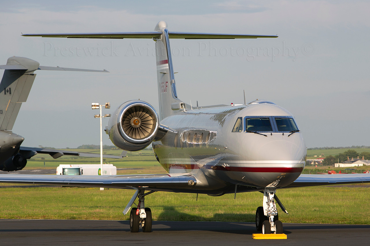 N165JF. Gulfstream Aerospace Gulfstream IV. Private. Prestwick.180613.