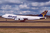 N505MC. Boeing 747-230B(SF). Atlas Air. Prestwick. May. 2001.