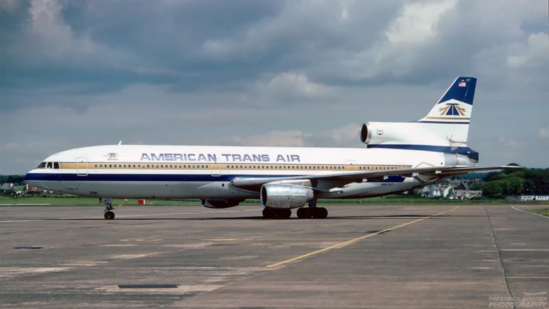 N187AT. Lockheed L-1011-385-1 TriStar 50. American Trans Air. Prestwick. July 1991.