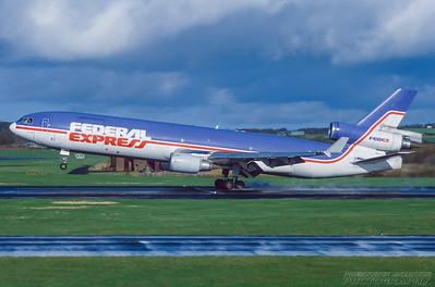 N610FE. McDonnell Douglas MD-11F. Federal Express. Prestwick. April. 1998.