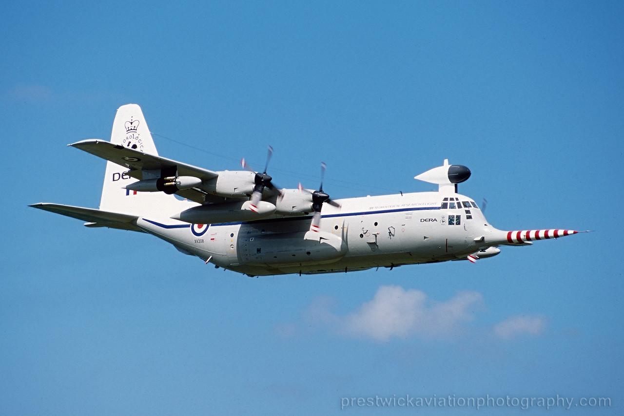 XV208. Lockheed C-130K Hercules W2. DERA. Prestwick. May 2001.