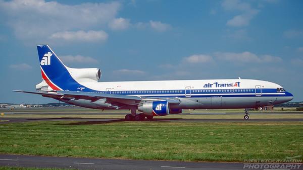 C-FTNH. Lockheed L1011-385-1-14 Tristar 150. Air Transat. Prestwick. July. 1995.