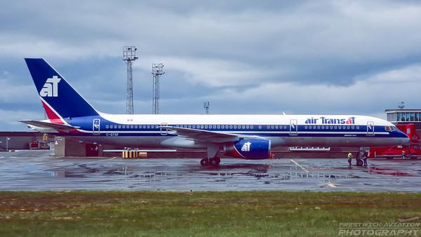 C-GTSF. Boeing 757-23A. Air Transat. Prestwick. June. 1995.