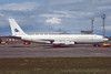 4X-JYQ. Boeing 707-344C Re`em. Israeli Air Force. Prestwick. June. 1995.