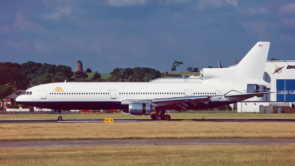 N186AT. Lockheed L-1011-385-1-14 TriStar 50. American Trans Air. Prestwick. July. 1995.