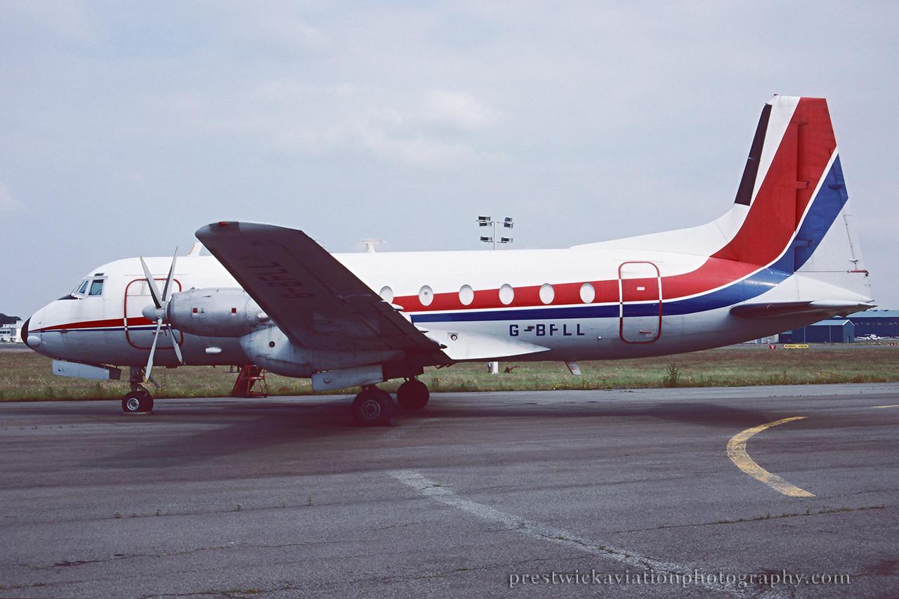 G-BFLL. Hawker Siddeley HS-748 Srs 2A. Untitled. Prestwick. August 1994.