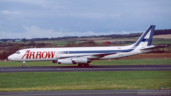 N8968U. Douglas DC-8-62H. Arrow Air. Prestwick. March. 1999.