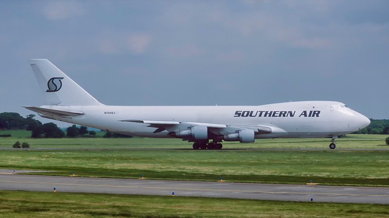 N750SJ. Boeing 747-212F/SCD. Southern Air. Prestwick. June. 1998.