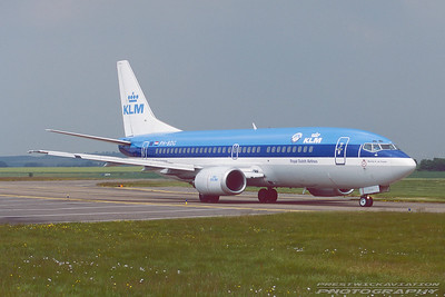 PH-BDG. Boeing 737-306. KLM. Prestwick. June. 1997.
