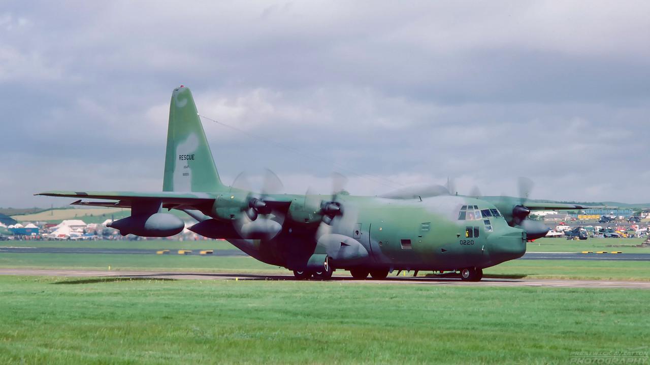66-0220. Lockheed HC-130P Hercules. USAF. Prestwick. June 1987.
