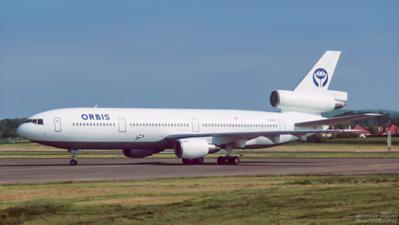 N220AU. McDonnell Douglas DC-10-10. Orbis. Prestwick. May. 1997.