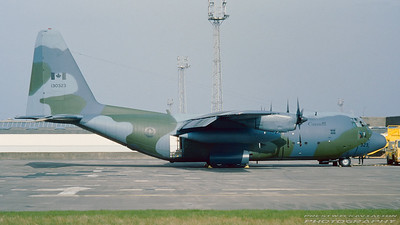 130323. Lockheed CC-130E Hercules. Canadian Armed Forces. Prestwick. April. 1986.