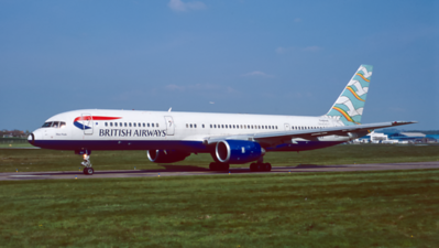G-BIKA. Boeing 757-236. British Airways. Prestwick. April. 2000.