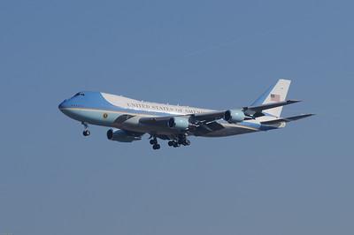 Prezidentská letadla v Praze