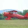 Waco YMF-5 three point landing.