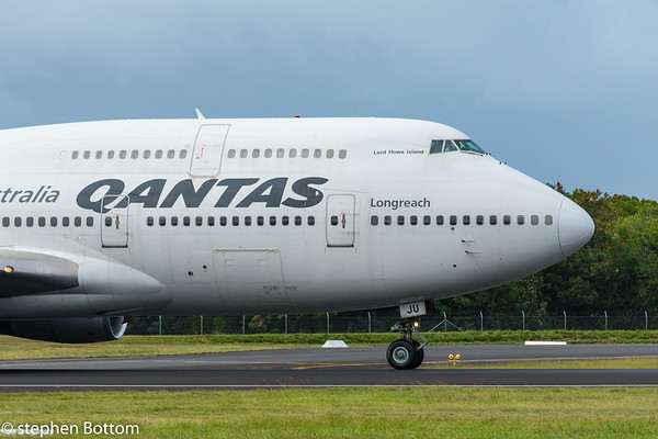 VH-OJU QANTAS B747-400 POSSIBLE LAST EVER QANTAS B747 VISIT