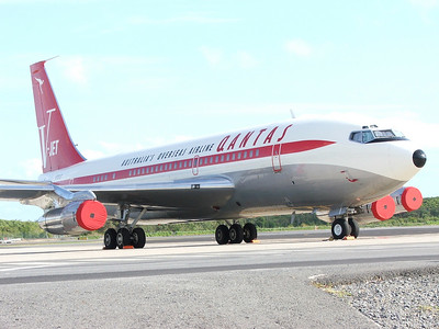 N707JT QANTAS B707  OWNED BY JOHN TRAVOLTA