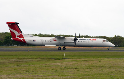 C-GGUK QANTASLINK DASH-8-Q400 delivery flight