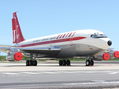 N707JT QANTAS B707-300  OWNED BY JOHN TRAVOLTA