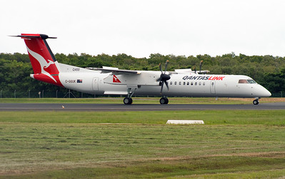 C-GGUK QANTASLINK DASH-8-Q400 ON DELIVERY FLIGHT.