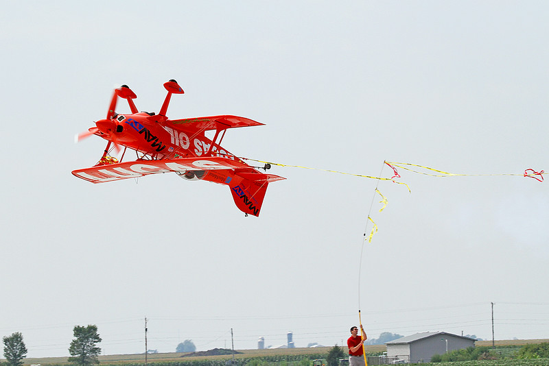 Mike Wiskus in the Lucas Oil Pitts Special at the 2014 Quad City Air Show
