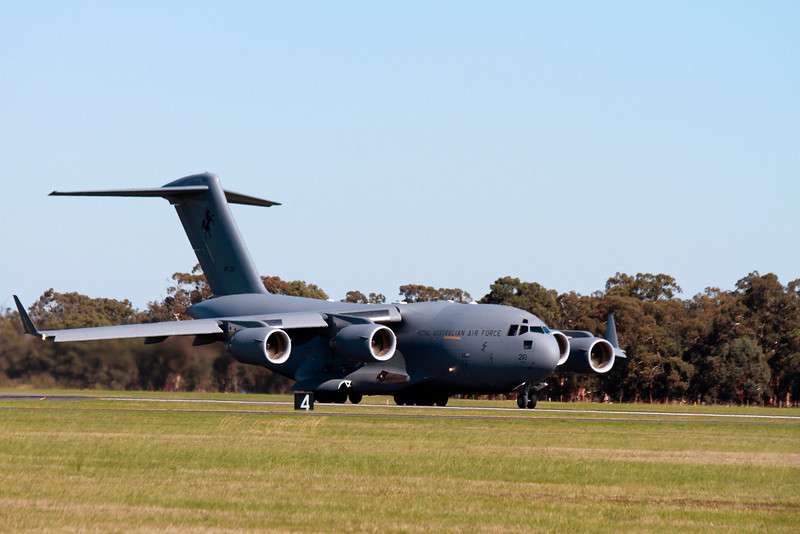 C17 - very impressive airplane. Can even go backwards (on the ground).