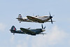 Spitfires 3W-17 of Royal Netherlands Air Force historical flight and PS915 of Battle of Britain Memorial Flight
