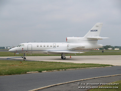 N500R, a Dassault Falcon 50, owned by NASCAR, was at Lehigh Valley International Airport on Sunday, June 10, 2007 during the Pocono 500.
