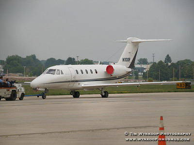 N100R, a Cessna Citation 650, owned by NASCAR, was at Lehigh Valley International Airport on Sunday, June 10, 2007 during the Pocono 500.