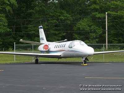 N790AL, Sterling Marlin's Cessna Citation S550 at Mt. Pocono Airport (MPO) on Sunday, June 10, 2007
