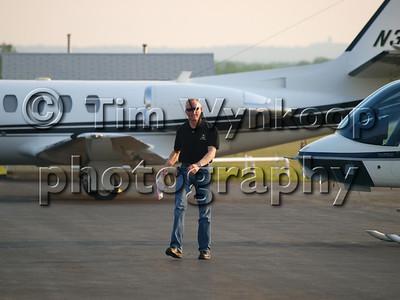 Mark Martin makes his way to his Cessna Citation