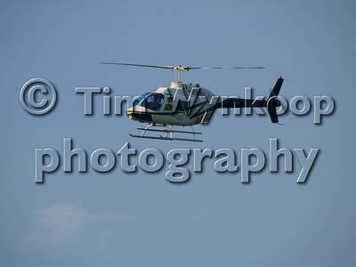 N37CL, Mark Martin and Jeff Burton arrive at MPO via helicopter following the race.