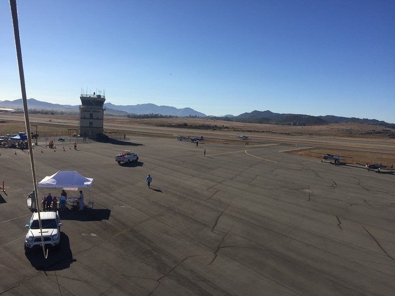 My RV-9A was parked over by the tower so I could fly some Young Eagles during the day.