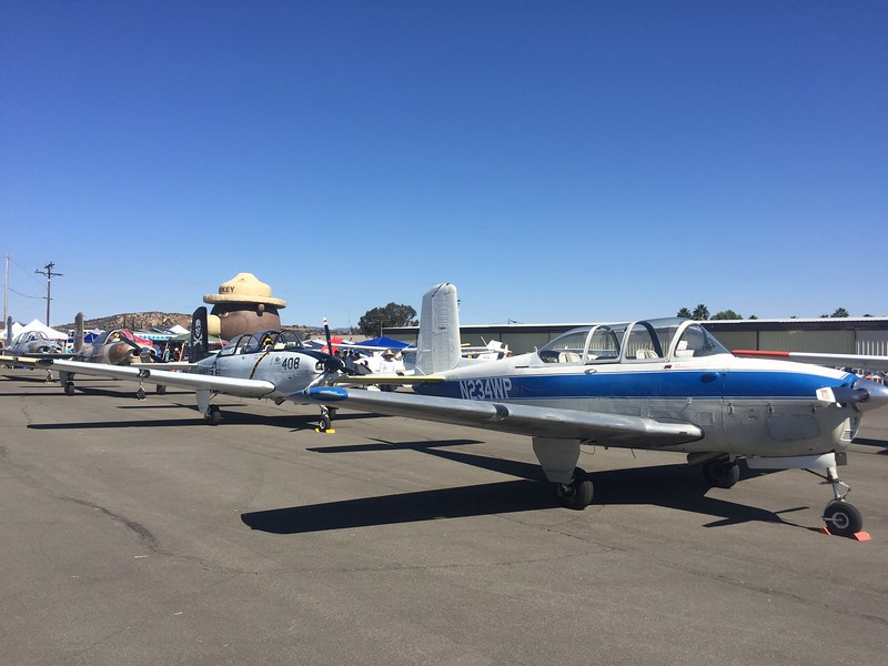 A whole flight of T-34's lined up.