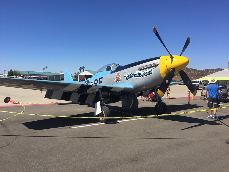 Chuck Hall's P-51 'Six-Shooter'. A frequent flyer around this area and always a treat to hear.