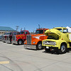 Custom Big rig trucks on display.