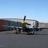 """Chuck Hall's P-51 """"Six Shooter"""" getting ready for a flight."""