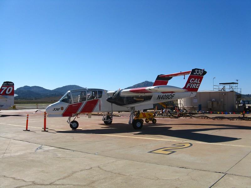 Rockwell OV-10A Bronco spotter plane.
