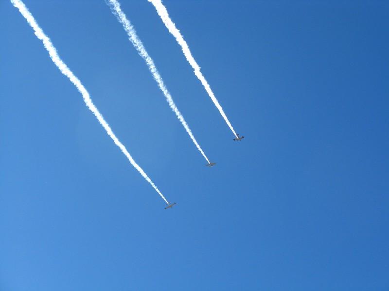 RV formation flight overhead.