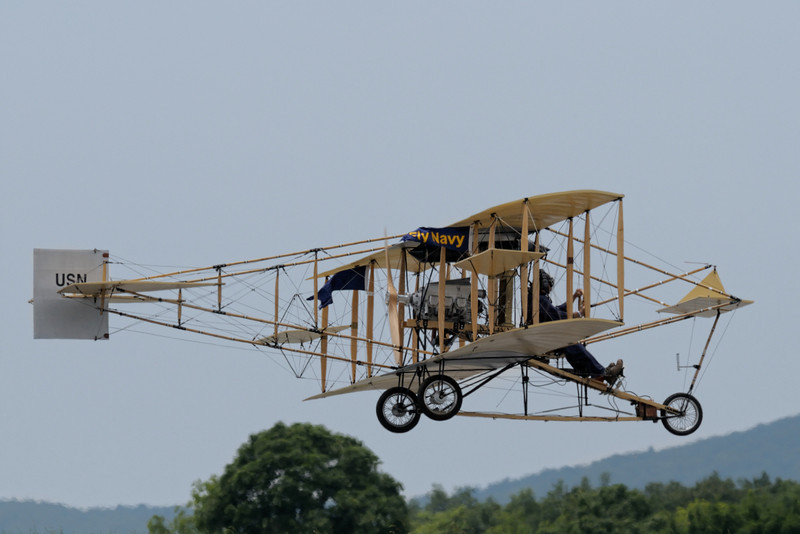 Curtiss-Ely Pusher (replica) coming in for a landing