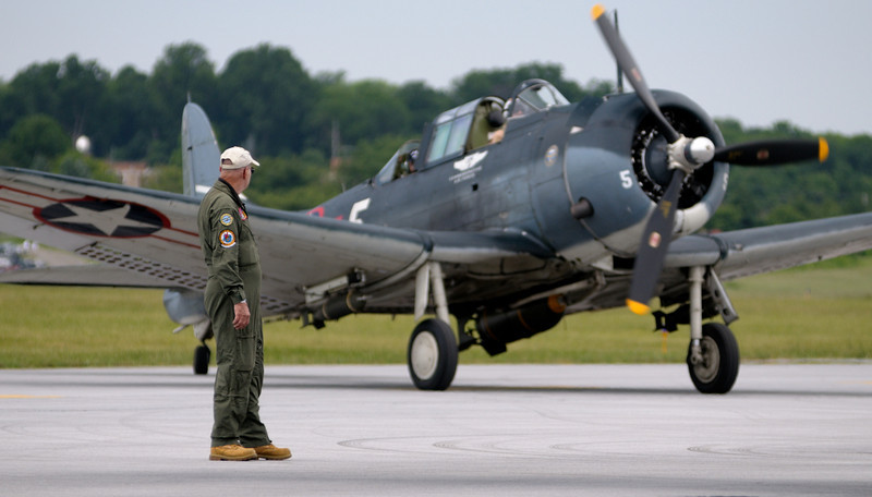 "Ground crew with Douglas SBD-5 ""Dauntless"""